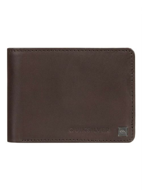 QUIKSILVER MENS WALLET.BOXED MACK REAL LEATHER BROWN MONEY CARD NOTE PURSE 9W 3C